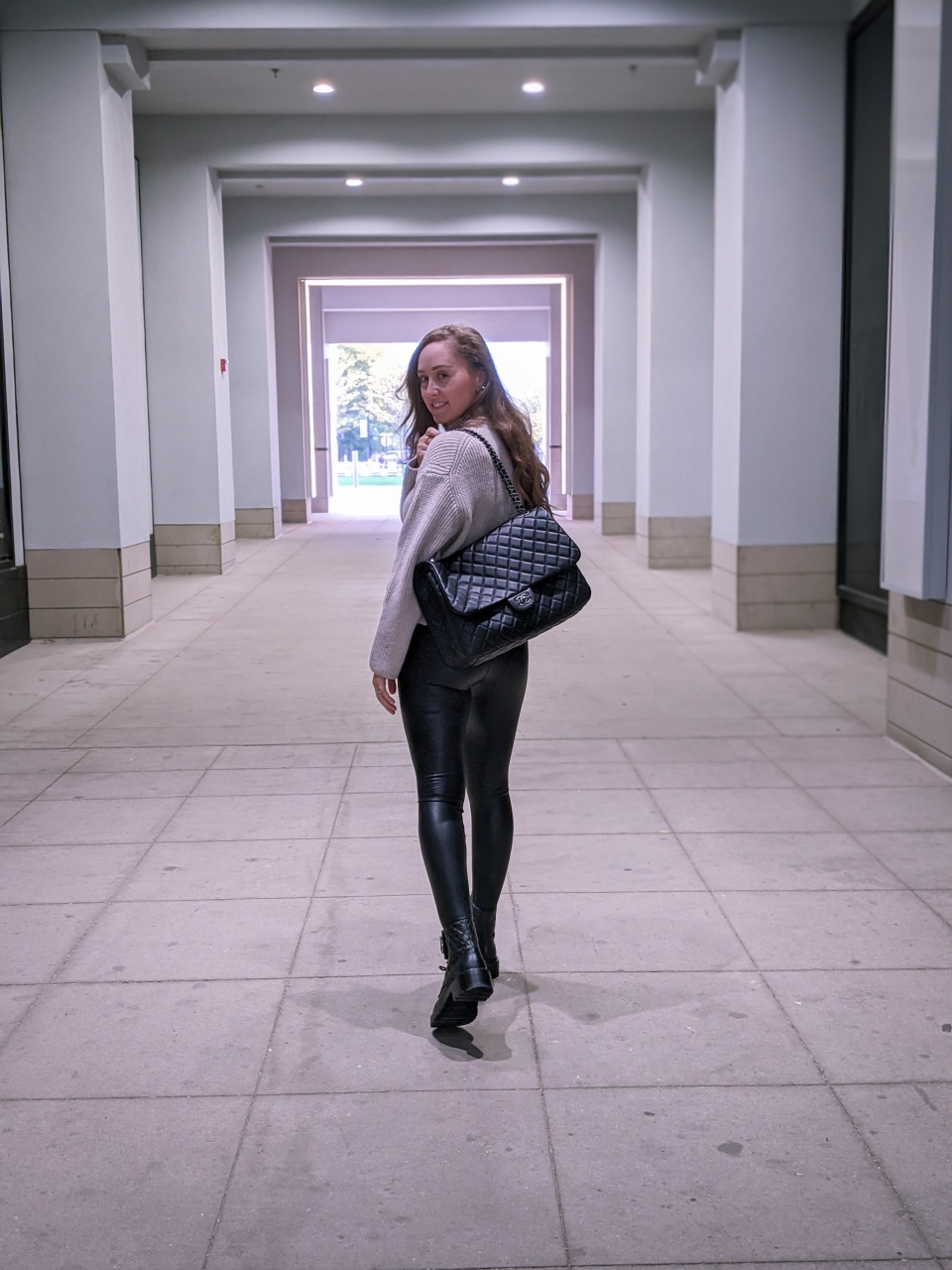 The best faux leather leggings #ootd