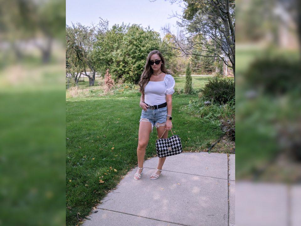 Denim shorts and Chanel