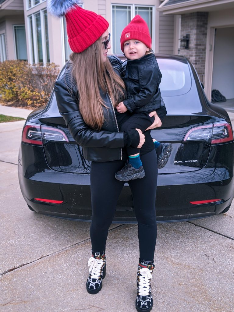 mom and son outfit ootd