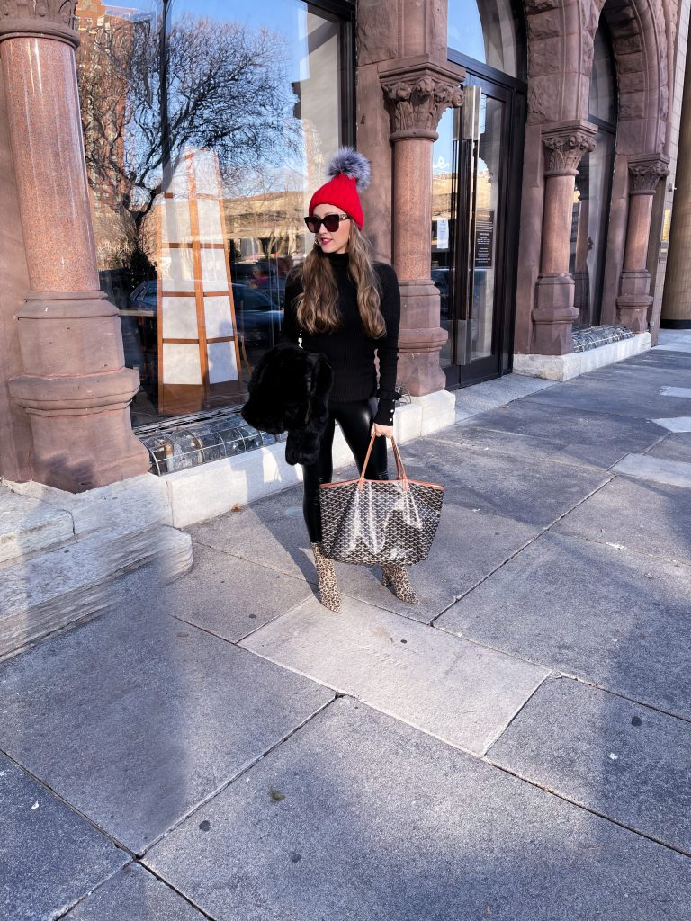 leopard booties outfit