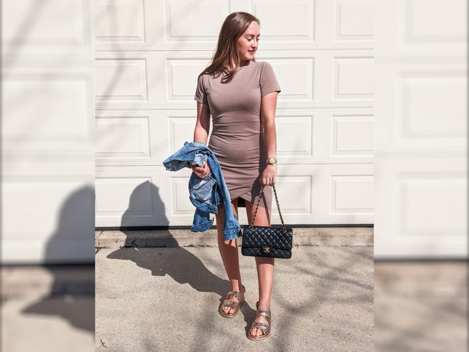 Simple Spring T-Shirt Dress: Express OOTD