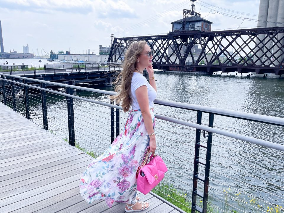 Floral Skirt Outfit- Summer OOTD